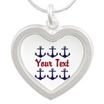 Personalizable Red and Blue Anchors Necklaces