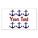 Personalizable Red and Blue Anchors Sticker