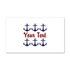 Personalizable Red and Blue Anchors Car Magnet 20
