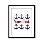 Personalizable Red and Blue Anchors Framed Panel P