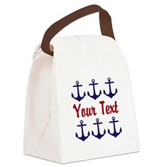 Personalizable Red and Blue Anchors Canvas Lunch B