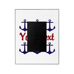 Personalizable Red and Blue Anchors Picture Frame