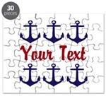 Personalizable Red and Blue Anchors Puzzle