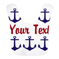 Personalizable Red and Blue Anchors Bib