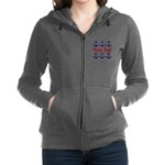 Personalizable Red and Blue Anchors Women's Zip Ho