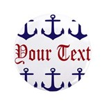 Personalizable Red and Navy Anchors 3.5