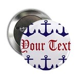 Personalizable Red and Navy Anchors 2.25