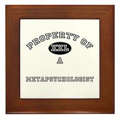 Property of a Metapsychologist Framed Tile