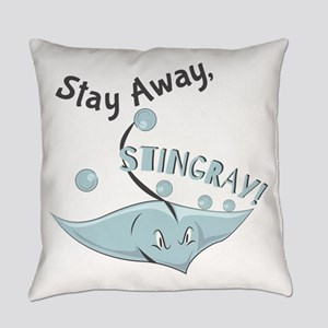 Stay Away,Stingray! Everyday Pillow