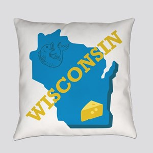 Wisconsin Everyday Pillow