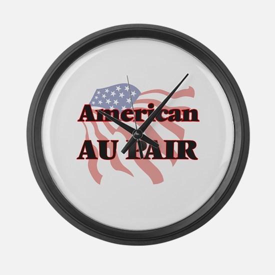 American Au Pair Large Wall Clock