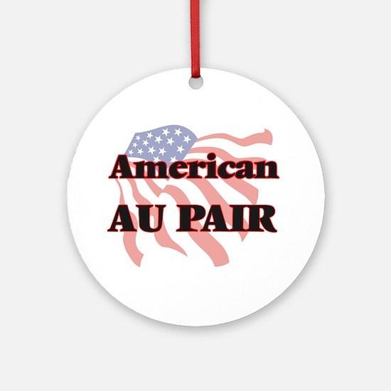 American Au Pair Round Ornament