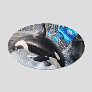ORCA 1 20x12 Oval Wall Decal