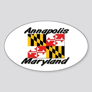 Annapolis Maryland Oval Sticker