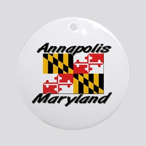 Annapolis Maryland Ornament (Round)