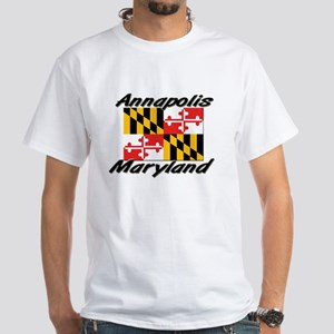 Annapolis Maryland White T-Shirt