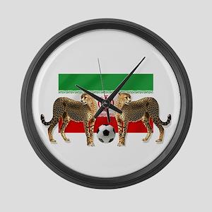 Iran Cheetahs Large Wall Clock