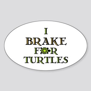 I Brake for Turtles Rectangle Sticker