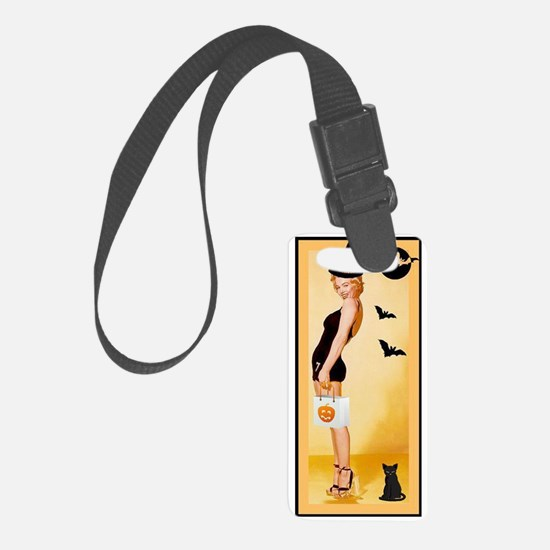Trick or Treat Pin Up Luggage Tag