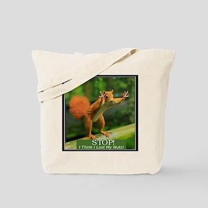 squirrel lost his nuts 2 Tote Bag