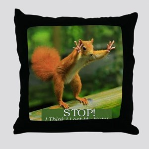 squirrel lost his nuts 2 Throw Pillow