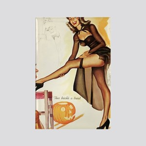 Halloween Sexy Trick AND Treat Rectangle Magnet
