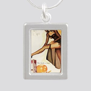Halloween Sexy Trick AND Silver Portrait Necklace