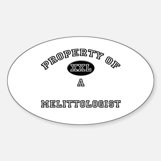 Property of a Melittologist Oval Decal