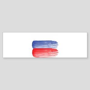 Russia flag russian Bumper Sticker