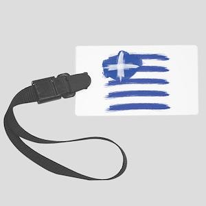 Greece Flag greek Large Luggage Tag