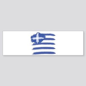 Greece Flag greek Bumper Sticker