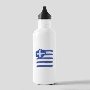 Greece Flag greek Stainless Water Bottle 1.0L