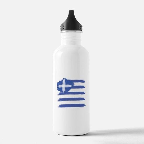 Greece Flag greek Sports Water Bottle