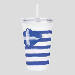 Greece Flag greek Acrylic Double-wall Tumbler