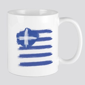 Greece Flag greek Mugs