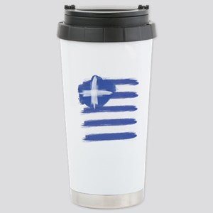 Greece Flag greek Stainless Steel Travel Mug