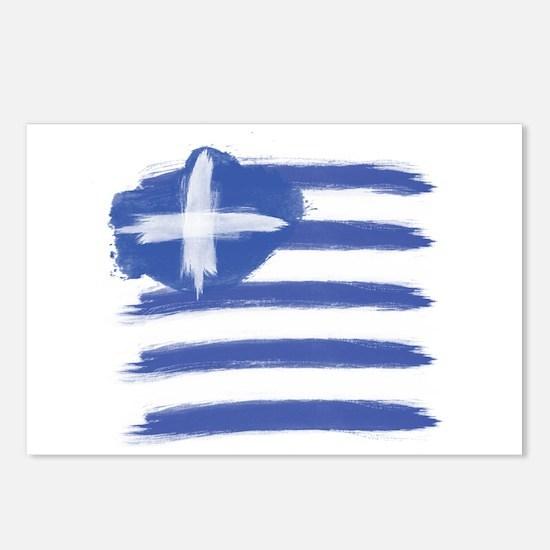 Greece Flag greek Postcards (Package of 8)