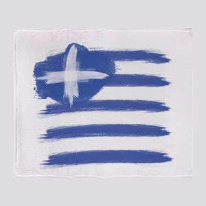 Greece Flag greek Throw Blanket