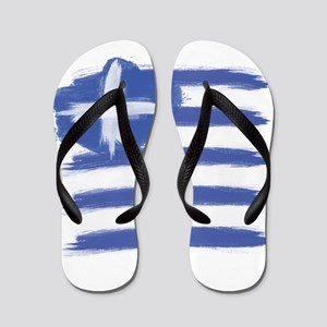 Greece Flag greek Flip Flops