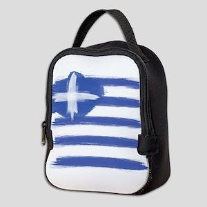 Greece Flag greek Neoprene Lunch Bag