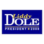 LIDDY DOLE PRESIDENT 2008 Rectangle Sticker
