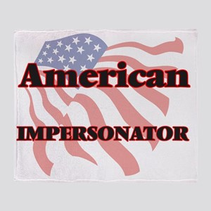 American Impersonator Throw Blanket
