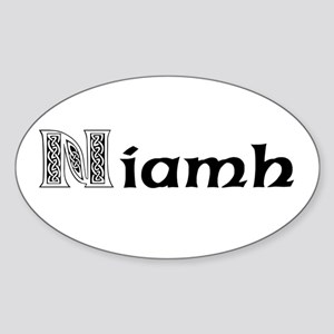 Niamh Oval Sticker