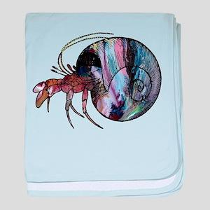 Hermit Crab baby blanket