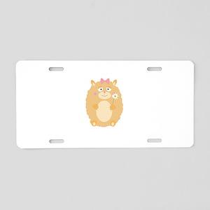 Fluffy Hamster Aluminum License Plate