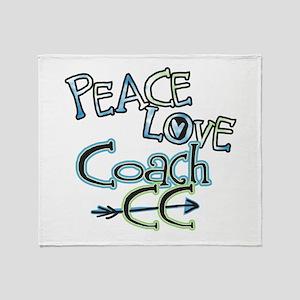 Peace Love Coach CC Throw Blanket