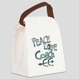 Peace Love Coach CC Canvas Lunch Bag