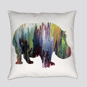 Hippopotamus Everyday Pillow