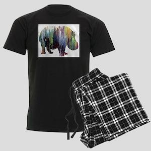 Hippopotamus Men's Dark Pajamas