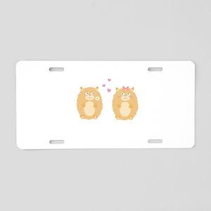 Hamsters in love Aluminum License Plate
